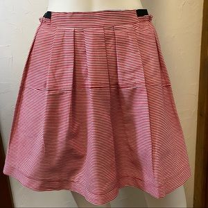 NWT Freeway Red and White Striped Skirt